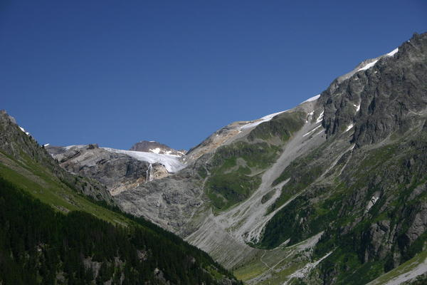 The view across to the Kanderfirn from Berghaus Gfellalp