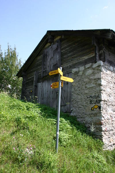 The junction with the path up to Belalp just before Birgisch