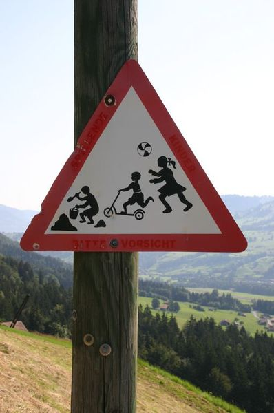 One of the small villages above Frutigen - beware of children REALLY enjoying themselves!